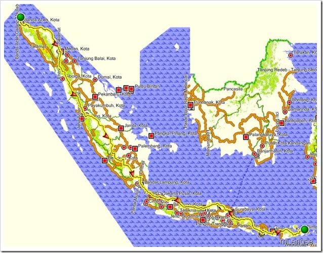 Sabang(Aceh)-Bima(Matarm)